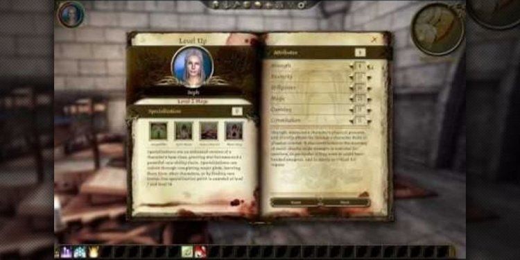 Your stats in Dragon Age: