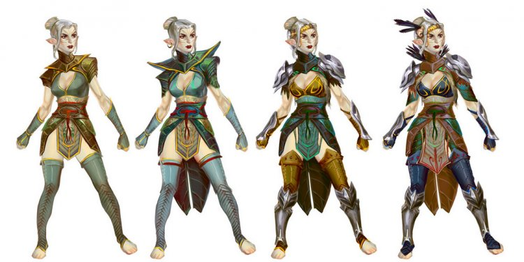 Concept art of a Dalish Keeper