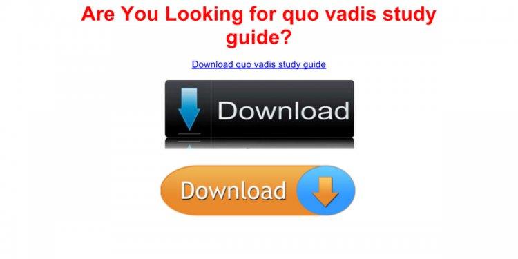 Quo vadis study guide - free