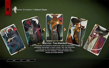 course choice window - personality classes - Character creation - Dragon Age: Inquisition Game Guide & Walkthrough