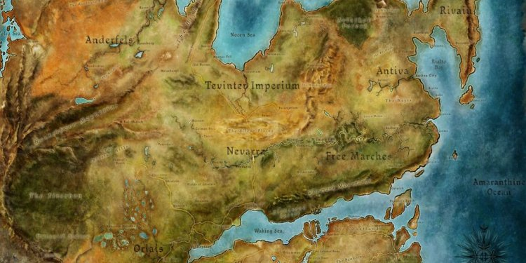 Dragon Age World map